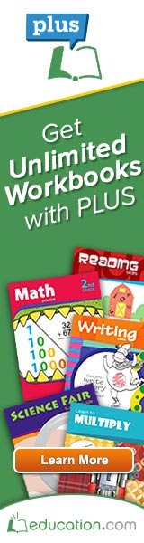 education.com workbooks on PLUS